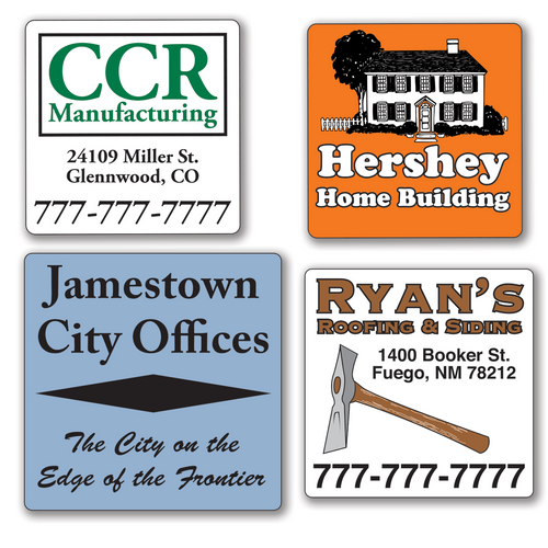 Small Square 2 x 2 inch Roll Labels - TWO Color