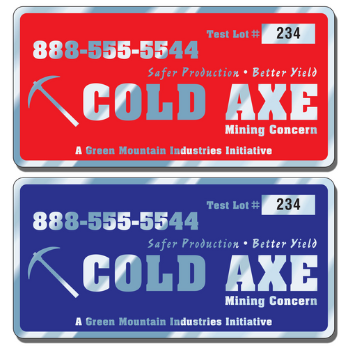 """6"""" X 3"""" Numbered Asset Tag Labels for indoor or outdoor use allow endless design possibilities and project a professional image."""