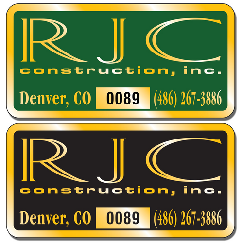 Our numbered aluminum stickers are extremely durable and are available in three finishes: Chrome, Gold, and Brushed Aluminum.