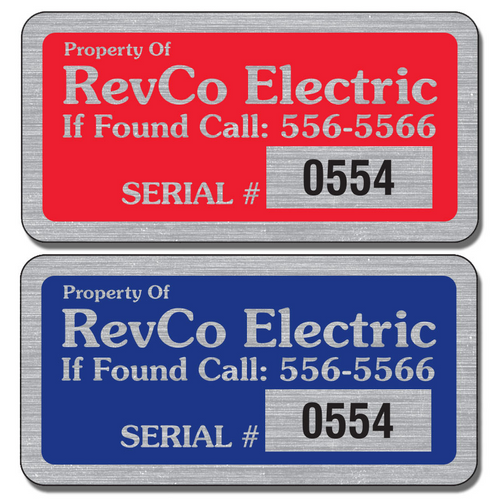 Our Numbered Service Stickers are extremely durable and are available in three finishes: Chrome, Gold, and Brushed Aluminum.