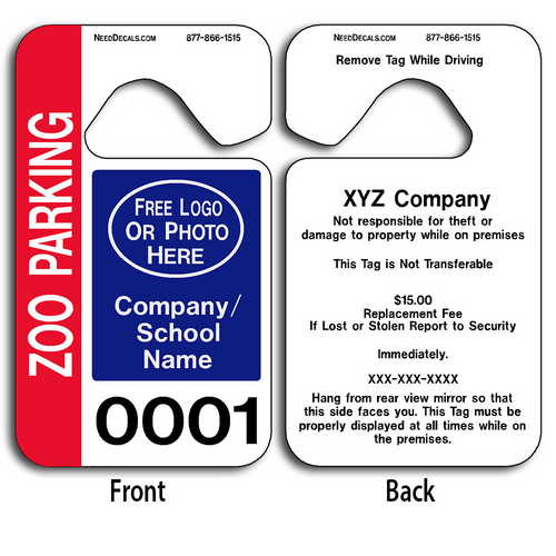 These Promotional Parking Permits are UV laminated front and back to give you the strongest parking permit available.