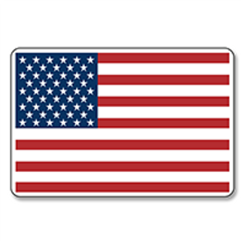 """American Flag Stickers - 2"""" X 3"""" - Roll of 100"""