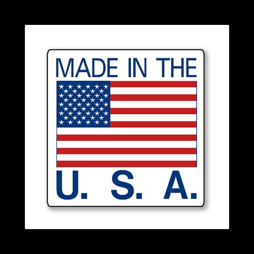 Made In USA Sticker - Rolls of 500