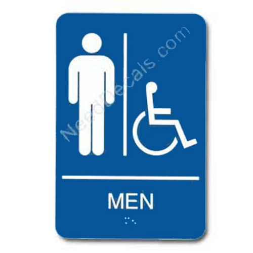 09003 Men's Handi Rstrm Sign Braille - Inventory Reduction Sale