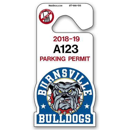 We can customize one of our full color Mascot Tags for your school or create something completely unique just for you. Overall size is approximately 3 x 6 inches.