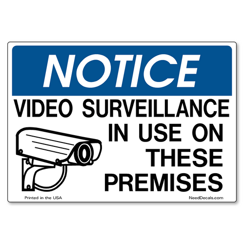 Decal Packs - Video Surveillance On Premises