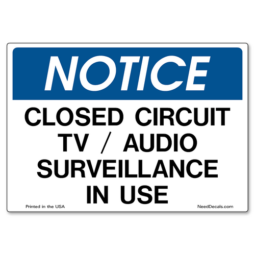Decal Packs - CCTV / Audio Surveillance In Use