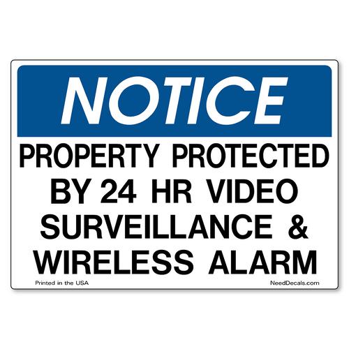 Decal Packs - Video Surveillance & Wireless Alarm