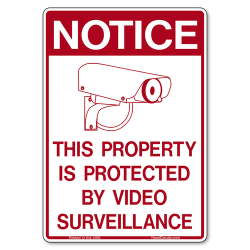 Decal Packs - G400 Property Protected by Video Surveillance