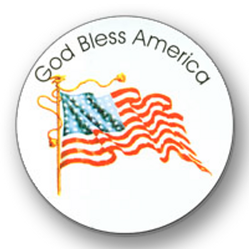 """GOD Bless America Round Stickers ( 2 3/4"""" diameter ) - Roll of 100"""