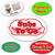 Medium Oval Roll Labels - TWO Color (Per 1,000)