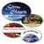 """3"""" x 1.75"""" Full Color Custom Outdoor Oval Decals"""