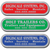 Brushed Chrome 3 7/8  X 1 1/16 Inch Service Decals
