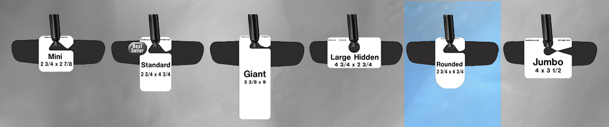 Rounded Parking Hang Tag