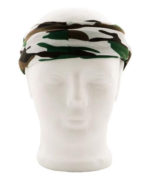 Green Camo Face Shield