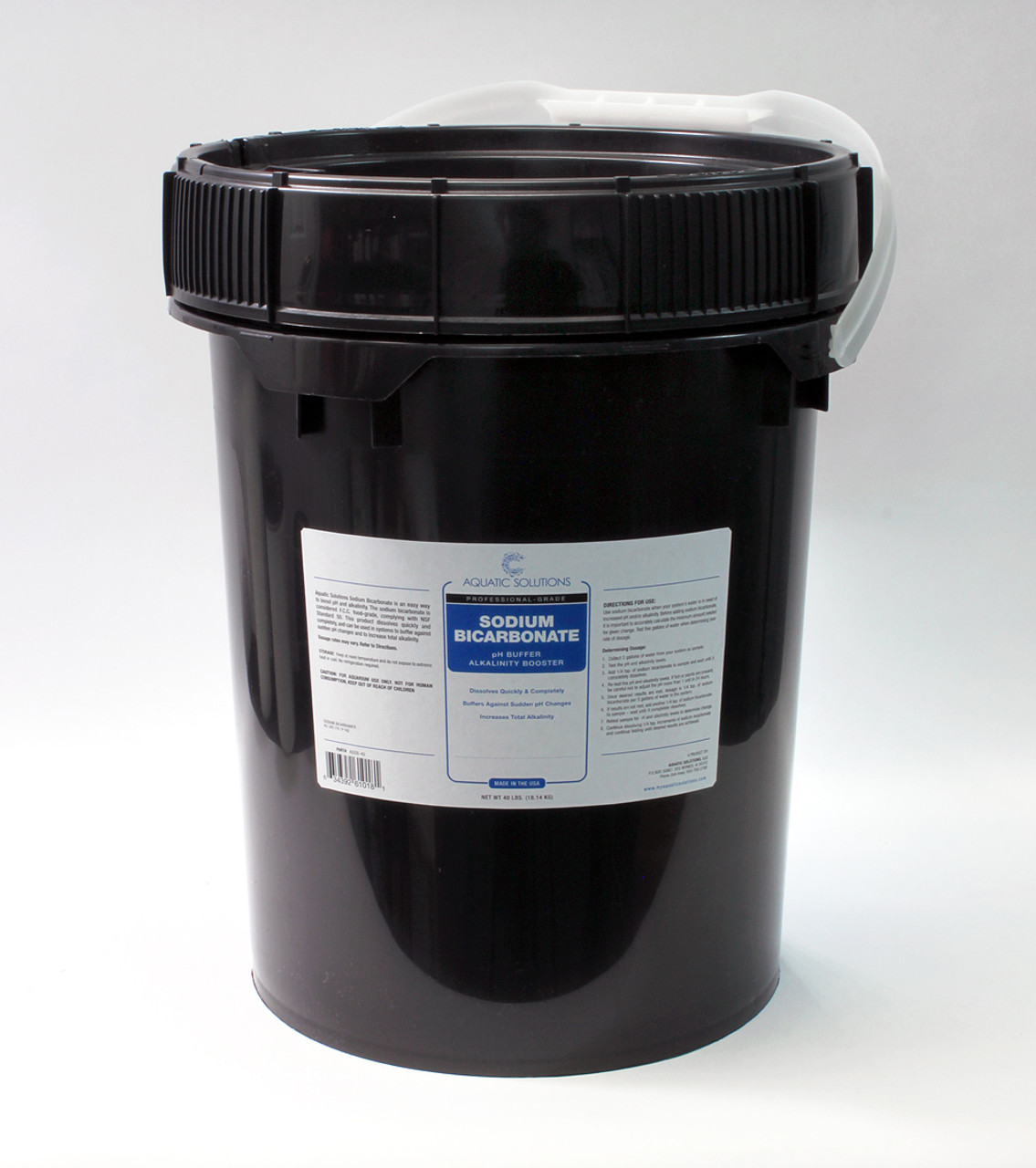 Aquatic Solutions, Sodium Bicarbonate 40 lb/ 5 gal Pail (ASSB-40)