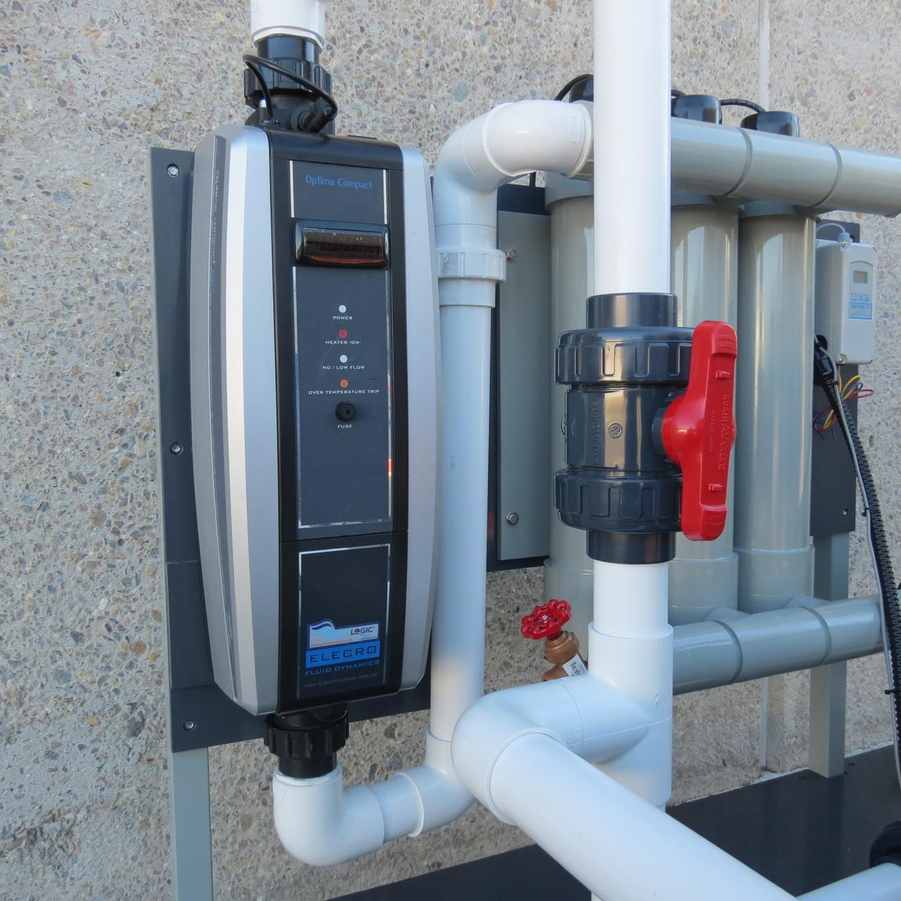 Optima Plus 18KW In Line Titanium Heater, 220V, 1 Phase (HTIO-18-220)