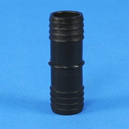"""Black HDPE Connectors 1/2"""" barb x 1/2"""" barb"""