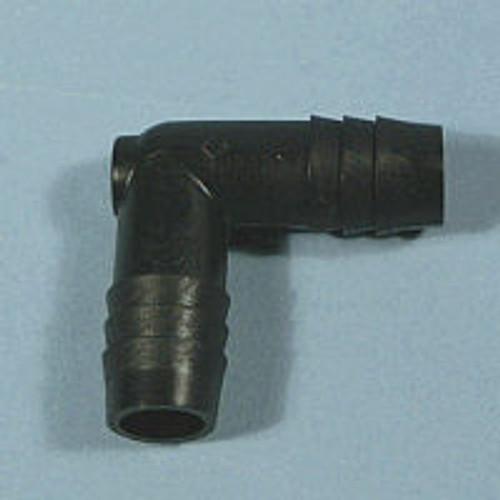 """Black HDPE HB Elbows 5/8"""" barb x 1/2"""" barb"""