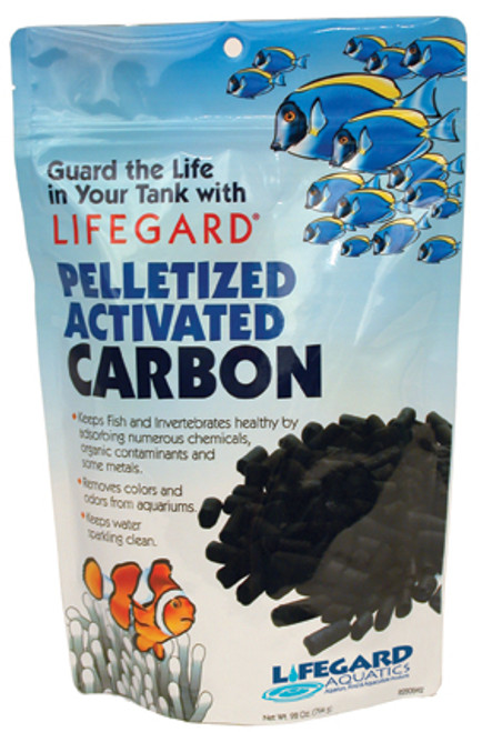 Pelletized Activated Carbon    By far, the best carbon in the market. Keeps fish and invertebrates healthy by absorbing numerous chemicals, organic contaminants and some metals. Removes colors and odors from aquariums and pollutants that mechanical and biological filtration leave behind. Has enormous surface area due to activation process. Three composite materials inside the pellet remove a wider range of organic contaminants. Large pellet will not restrict flow when compared to competing brands. High adsorption capacity is achieved by a wide range and quantity of internal carbon pore sizes. For phosphate free applications, pre-rinse carbon before use.