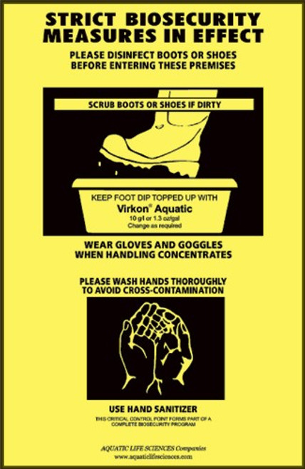 "Biosecurity Signage SIGN - ""Foot Bath & Hand Wash"" 11"" X 17"""