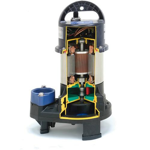 ShinMaywa Norus SM2.45, 5700 GPH, 37' Max. Head, 567 Watts, 1/2HP, 115VAC, 2: Discharge, 32' Cord