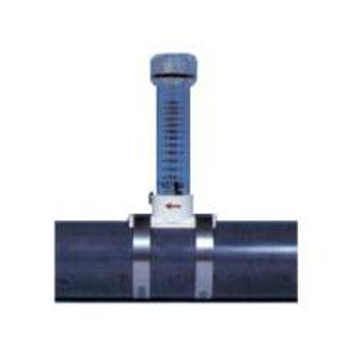 Pulsafeeder Mec-O-Matic 25P Clamp On Visual Flow Meter, Nominal Pipe Size: 2-1/2 inch, GPM: 40-200, LPM: 160-750.