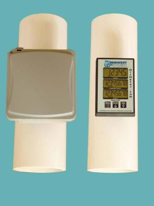 """MIC Flowmeter for 4""""Sch 40 PVC Pipe Mount. (PT-I-40-4.0)"""