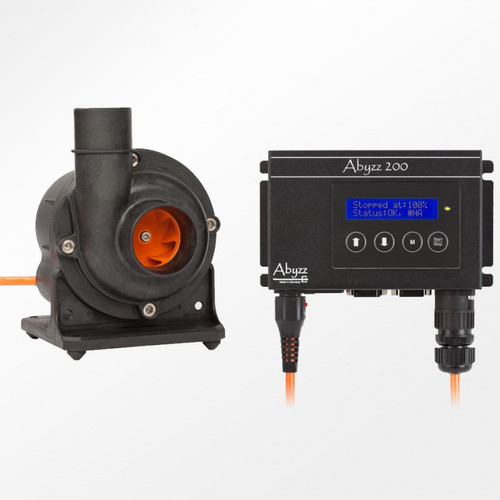 Abyzz A200-10M 3,750 GPH DC Pump, 4,400 gph 10 Meter (VA-A200-10)