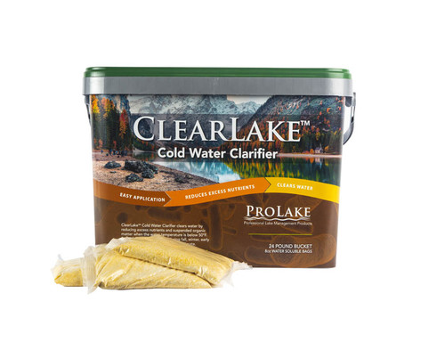 ClearLake™ Cold Water Clarifier WSP, 1 - 24 lb. Bucket - Formerly Aquatron Cold Water Formula 40.8115