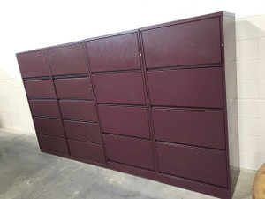 Meridian Burgundy Four Drawer Lateral File Cabinet