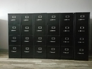 Hon Four Drawer Vertical File Cabinet