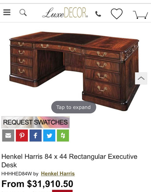 Henkel Harris Executive Desk