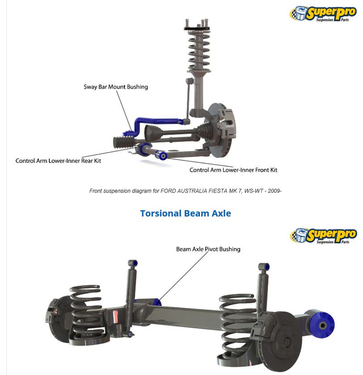 Stance Street Coilovers Suspension Kit Ford Fiesta Mk 7 Mk7.5 FITS ALL ENGINES