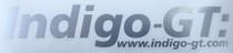 Indigo-GT Vinyl Sticker 21cm - Brushed Silver