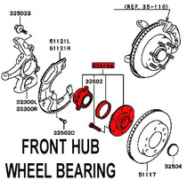 Evo 5/6 Front Wheel Bearing