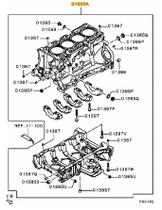 New Mitsubishi Evo X Cylinder Block