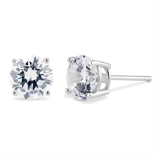 Cubic Zirconia Studs in Sterling Silver