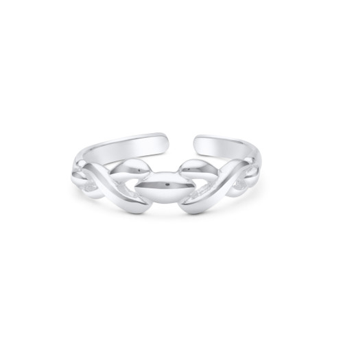 Celtic Knot Toe Ring Sterling Silver