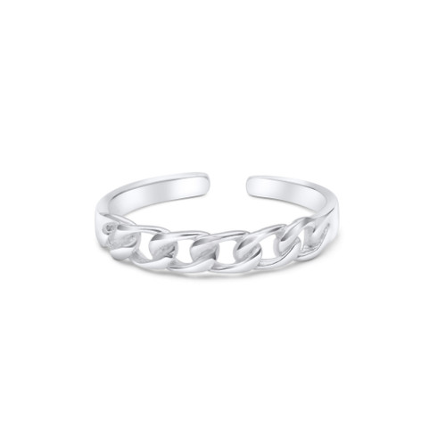Curb Link Toe Ring Sterling Silver