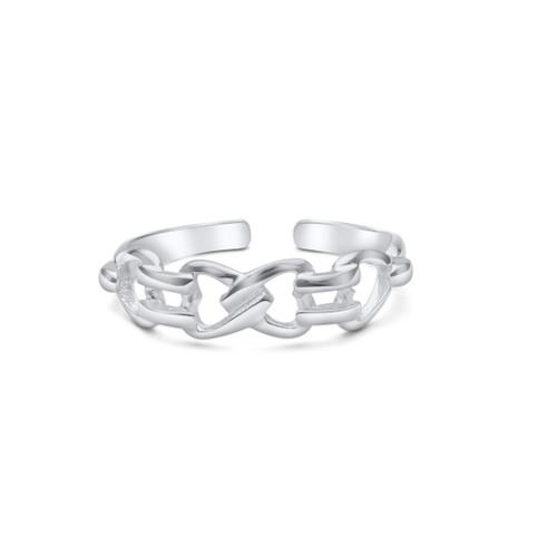 Celtic Design Toe Ring Sterling Silver