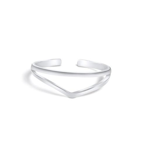 Silver Chevron Toe Ring Sterling Silver