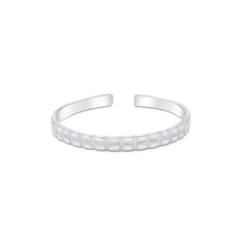 Rib Design Toe Ring Sterling Silver