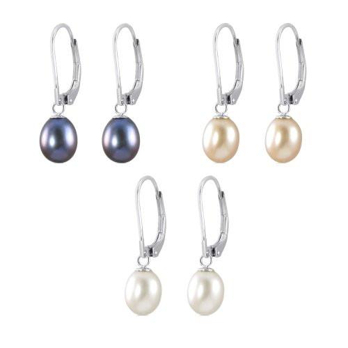 Sterling Silver Silver Pearl Drops