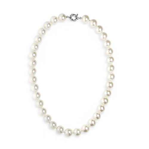 """12mm Faux Pearl Necklace 18"""" Length"""