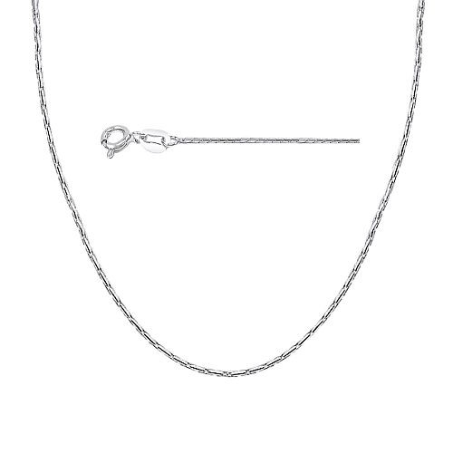 .925 Sterling Silver .7mm Italian Cardano Chain Necklace