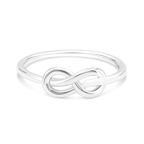 Sterling Silver .925 High Polished Infinity Knot Ring