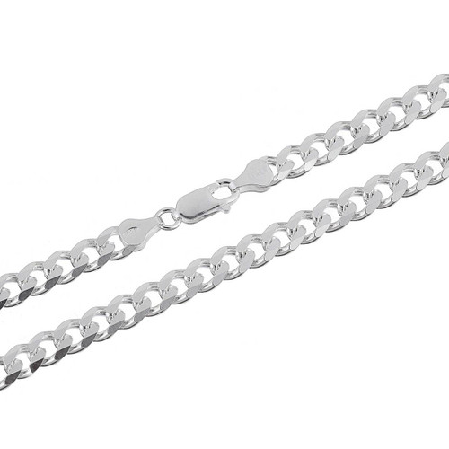 Sterling Silver .925 Cuban Curb 180 Men's 6.5mm Chain