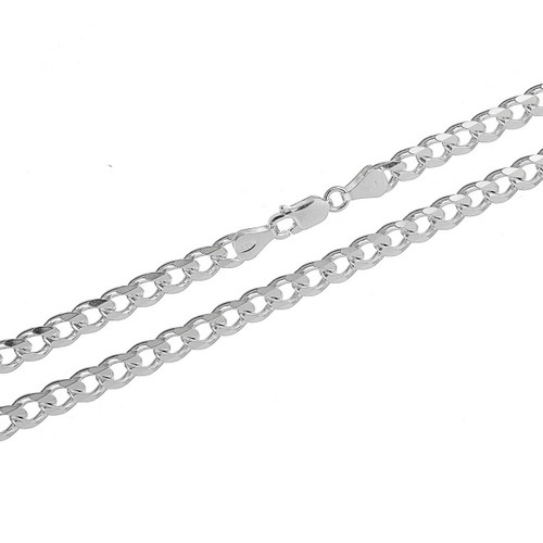 Sterling Silver .925 Cuban Curb 150 Men's 5.5mm Chain