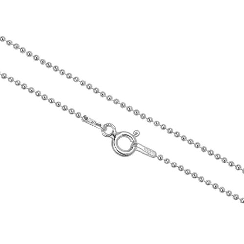 Sterling Silver Ball Bead Chain 1.2mm